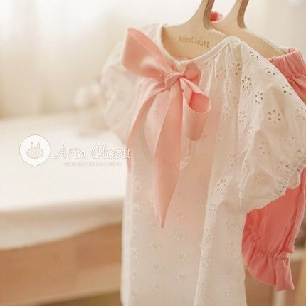 Pink Ribbon Blouse, Arim Closet - BubbleChops LLC
