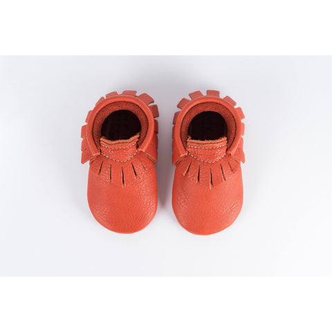 Amy & Ivor Tomato Traditional Moccasins - BubbleChops - 1