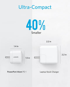 Anker PowerPort Atom PD 1 USB C Charger, Anker 30W Ultra Compact Type-C Wall Charger - Custom Mac BD (1795647242303)