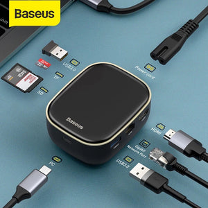 Baseus Type-C HUB Adapter AC Multifunctional Charger-Black, White
