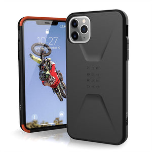 URBAN ARMOR GEAR UAG Designed for iPhone 11 Pro Max [6.5-inch Screen] Civilian Feather-Light Rugged [Black] Military Drop Tested iPhone Case