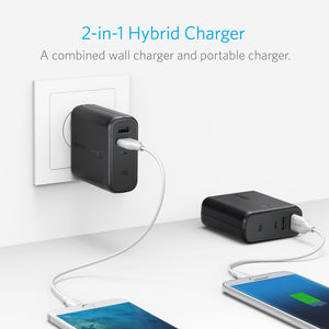 Anker PowerCore Fusion, Portable Charger 10000mAh with Dual USB Wall Charger, Foldable Plug and PowerIQ, - Custom Mac BD