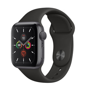 Brand New Apple Watch - Series 5 - Space Gray Aluminum Case with Black Sport Band (GPS) 44MM