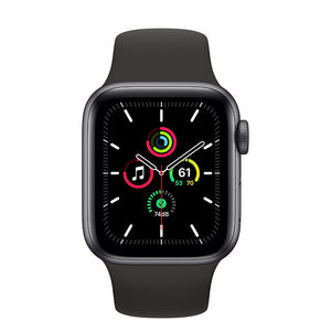Apple Watch SE Space Gray Aluminum Case with Black Sport Band 44mm (4853951692863)