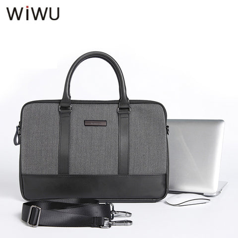 Wiwu London Slim Business HandBag for Macbook/Laptop with Shoulder Belt - Custom Mac BD