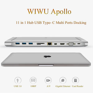 Wiwu Multi-function 11 In 1 Hub USB Type-c Docking Station Universal - Custom Mac BD