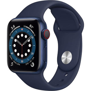 Brand New Apple Watch - Series 6 - Blue aluminum case with Navy Blue sport band strap (GPS) 44MM