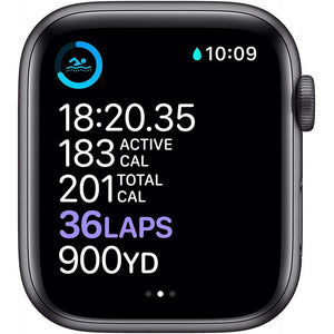 Brand New Apple Watch - Series 6 - Space gray aluminum case with sport band strap Black (GPS) 44MM