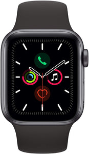 Brand New Apple Watch - Series 5 - Space Gray Aluminum Case with Black Sport Band (GPS) 44MM - Custom Mac BD (4595143573567)