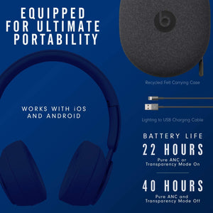 Beats Solo Pro Wireless Noise Cancelling On-Ear Headphones - Apple H1 Headphone Chip, Class 1 Bluetooth, Active Noise Cancelling, Transparency, 22 Hours Of Listening Time (4756825374783)