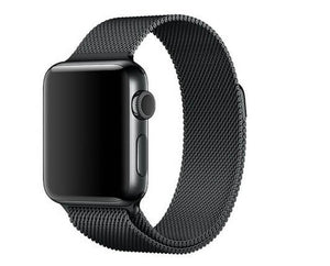 Coteetcl Stainless Steel Watch Band for iWatch 4 44mm - Black (4682408624191)