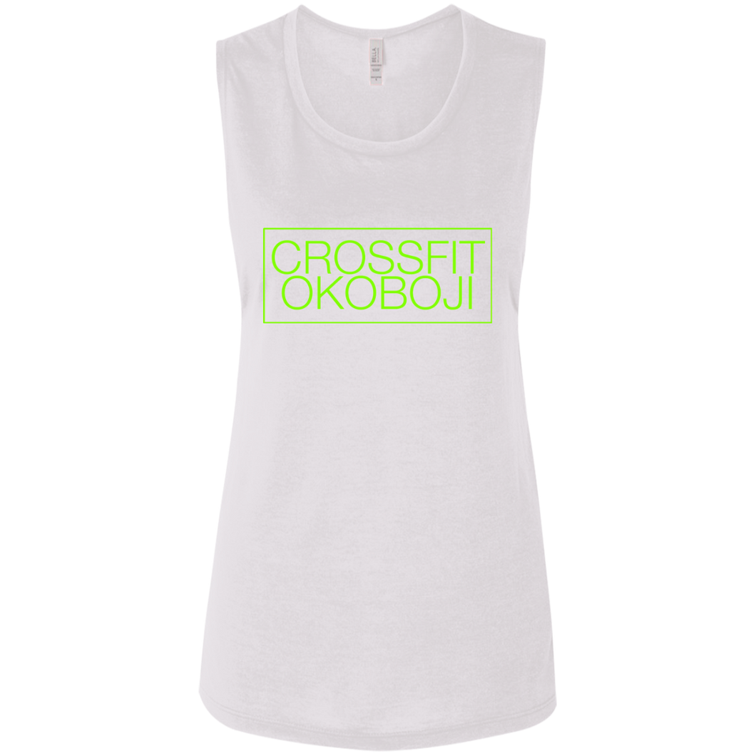 CrossFit Okoboji: Box Basic Muscle Tank [LIME]