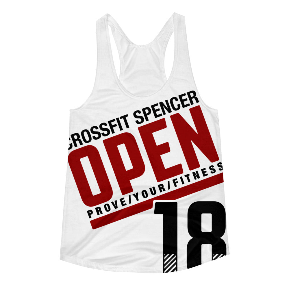 The Open 18 - Women's Racerback Tank [BLANK BACK]