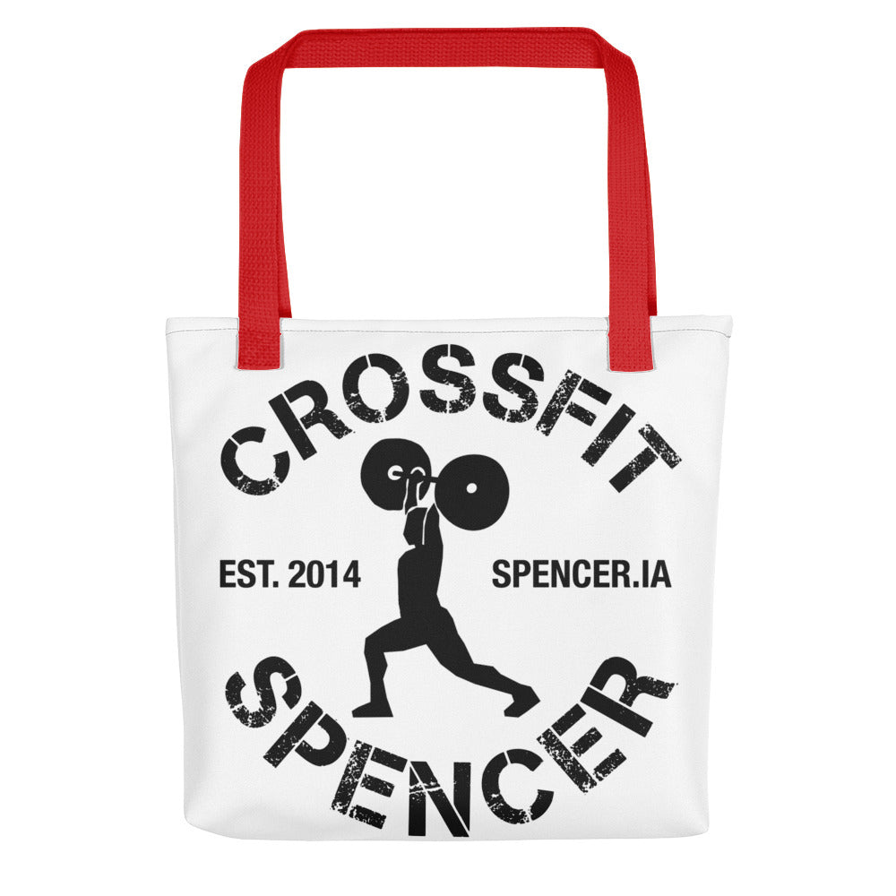 CrossFit Spencer - Clean & Jerk Tote bag [red handles]