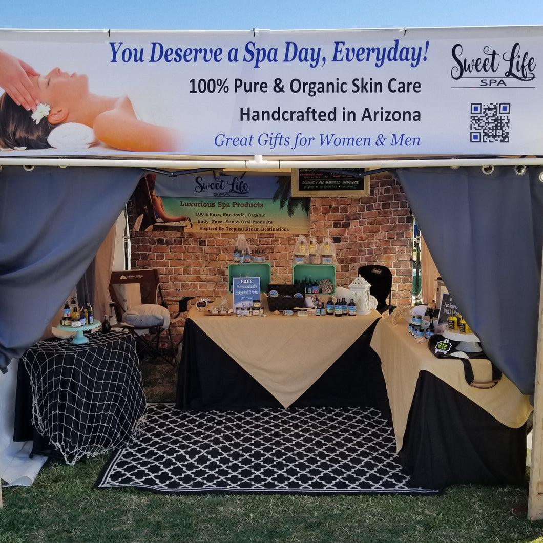 Sweet life Spa's Market Booth | Sweet Life Spa