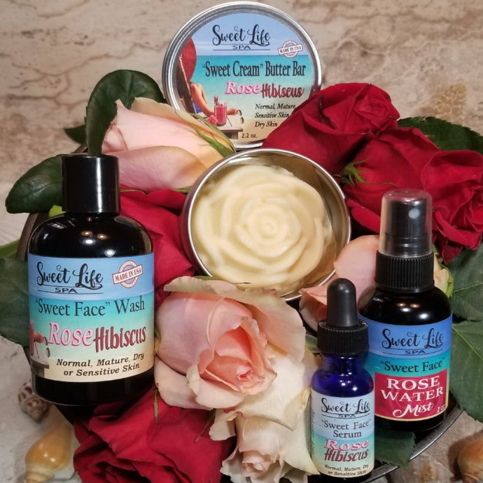 Rose Hibiscus Gift And Travel Set | Sweet Life Spa