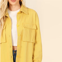 Yellow Button Up Jacket