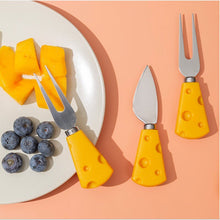 JO LIFE Adorable Creative Cheese Tableware Spoon Fruit Fork Cake Knife Stainless Steel Novelty Tableware