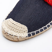 Tassel Detail Denim Blue Espadrilles