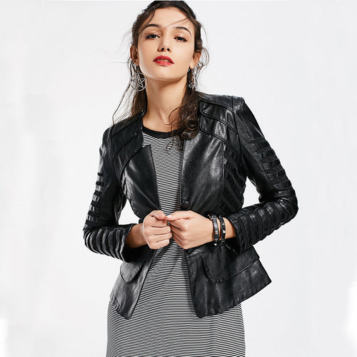 Zane Moto Faux Leather Jacket