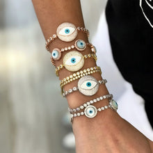 Silver Plated Cubic Zirconia Turkish Evil Eye Bracelet