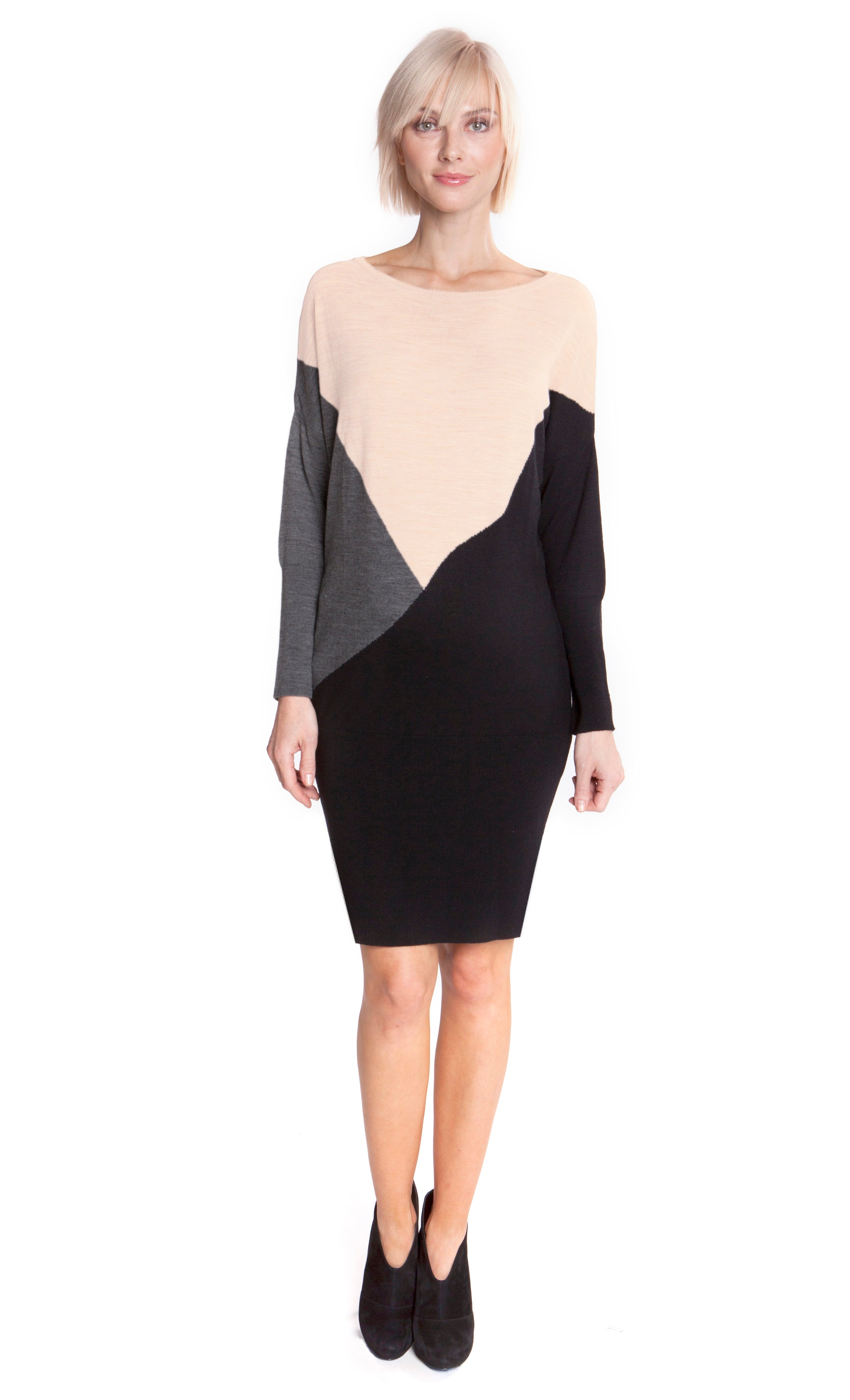 Z Sabrina Color Block Sweater Dress
