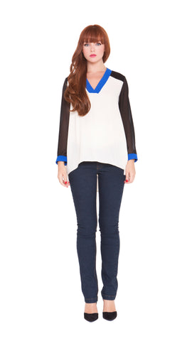 8012f04fb0a6a Z Leah Color Block Top