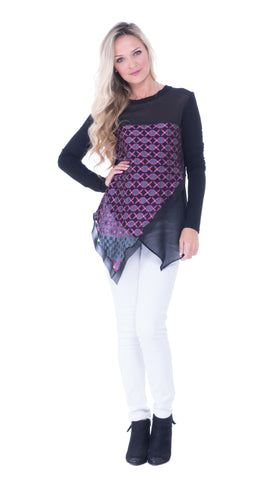 Asymmetrical Print top