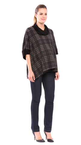 Macy Poncho Plaid Top
