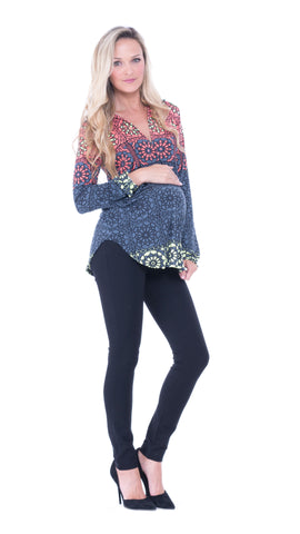 Deborah Long Sleeve Printed top