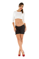 Mandy Cropped Three-Quarter Sleeve Solution