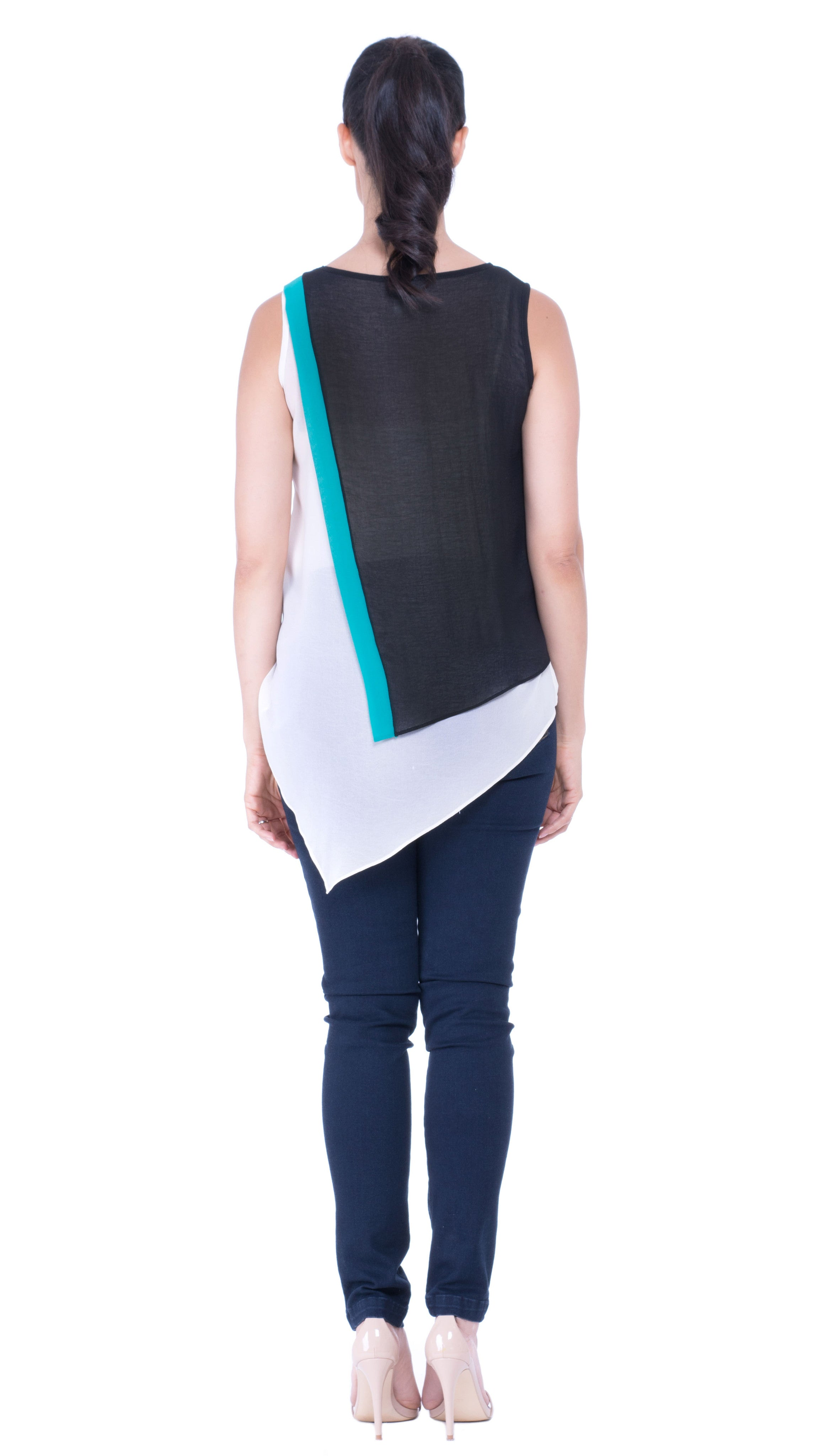 Leah color block top
