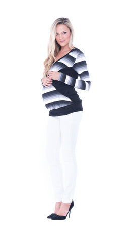 Mandy Striped Nursing Top
