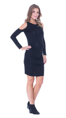 Lucy cold shoulder fitted dress