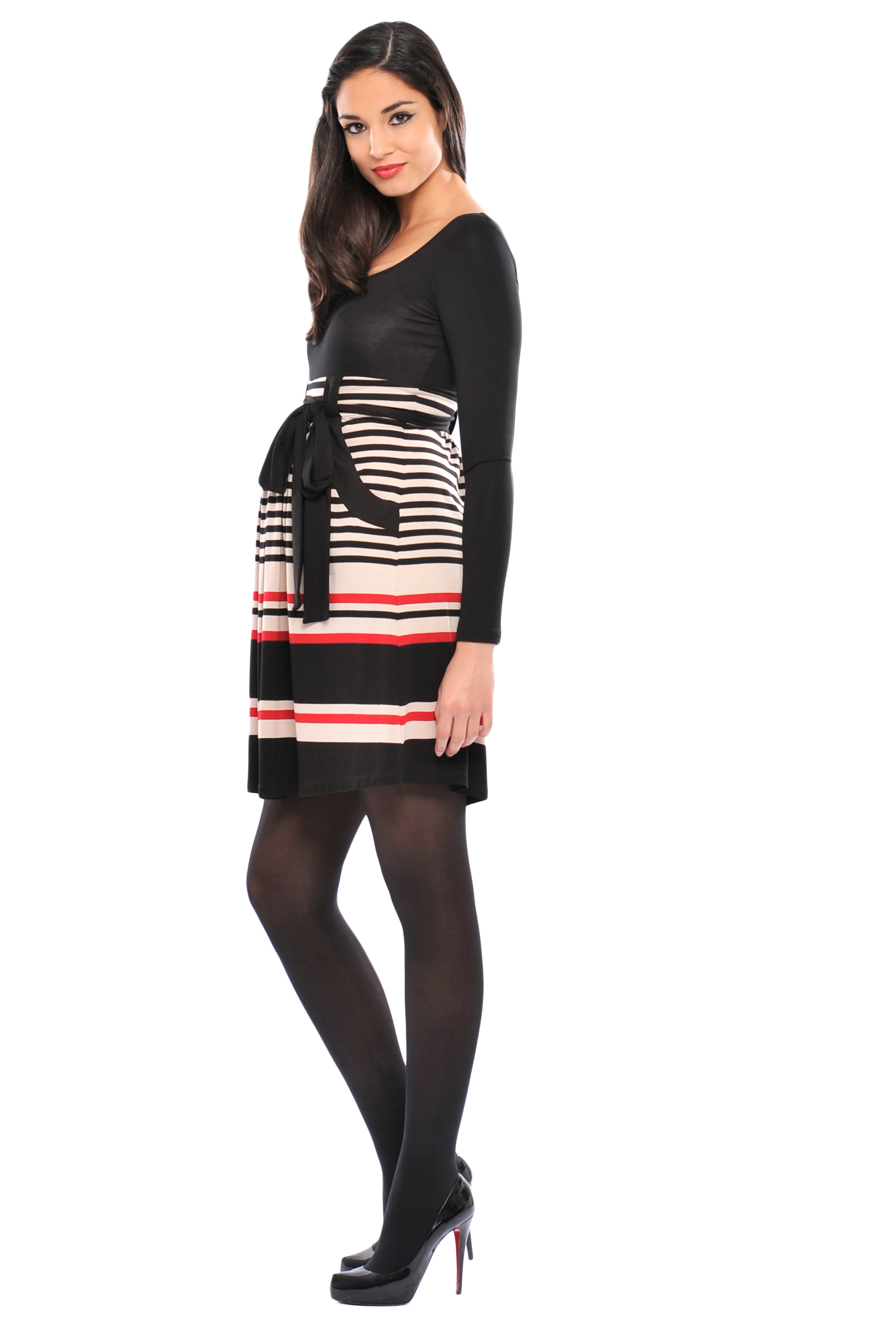 Z Michelle Striped Baby Doll Dress