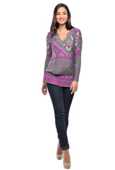 Lila Blouson Tunic Top