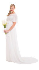Eleanor Flutter Sleeve Gown