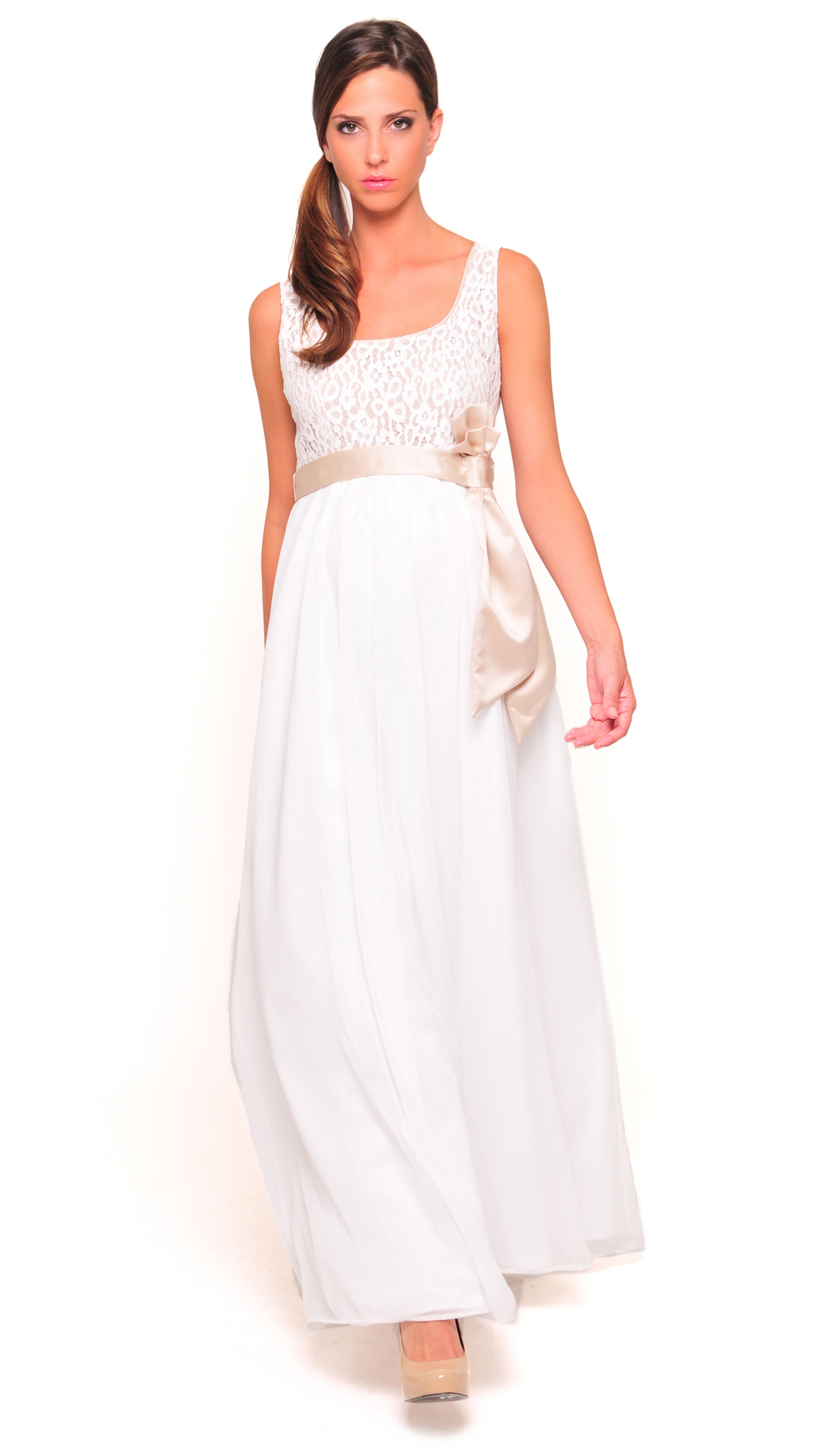 Patricia Lace Evening Gown