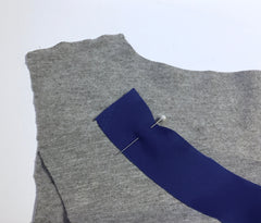 bias tape on neckline