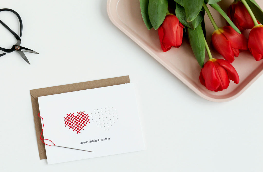 DIY Cross Stitch Letterpress Card Kit