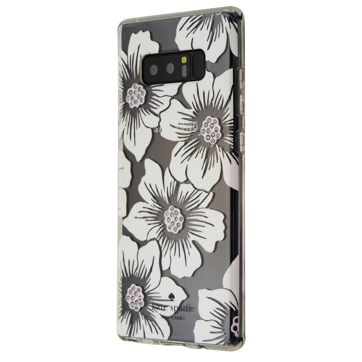 Kate Spade Flexible Hardshell Case for Galaxy Note 8 - Clear/White Flowers