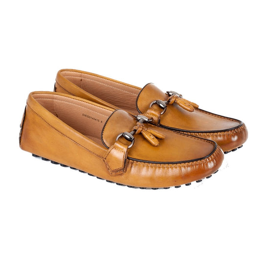 Men - Shoes - Loafers & Drivers - Lussoti Diego - Driving Moccasin In Tan Calf Loafer