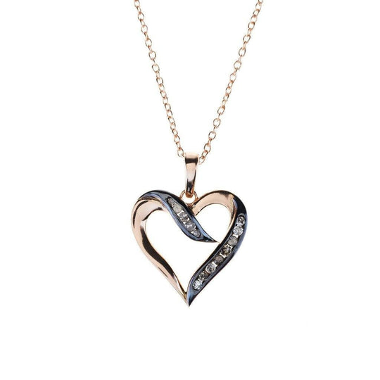 Women - Jewelry - Necklaces - Diamond Large Open Heart Necklace