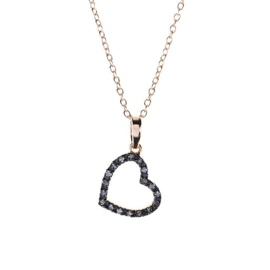 Women - Jewelry - Necklaces - Diamond Open Heart Necklace
