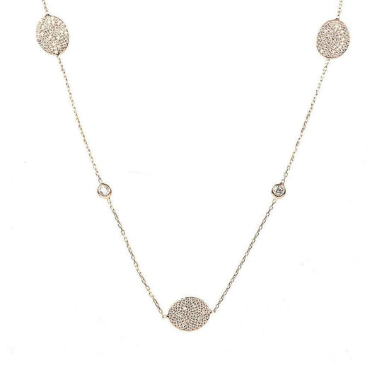 Women - Jewelry - Necklaces - LATELITA LONDON Necklace Long Oval Disc Rosegold