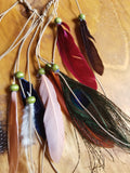Dark Tone Multi Color Feather Headdress - Artisan Bound