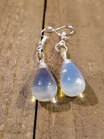 Clear Quartz Stone Drop Earrings (E68) - Artisan Bound