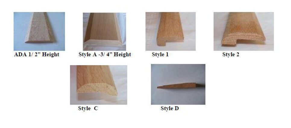 Variety of Solid Wood Interior Thresholds