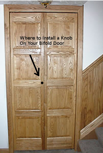 Where to Install a Knob on your Bifold Doors