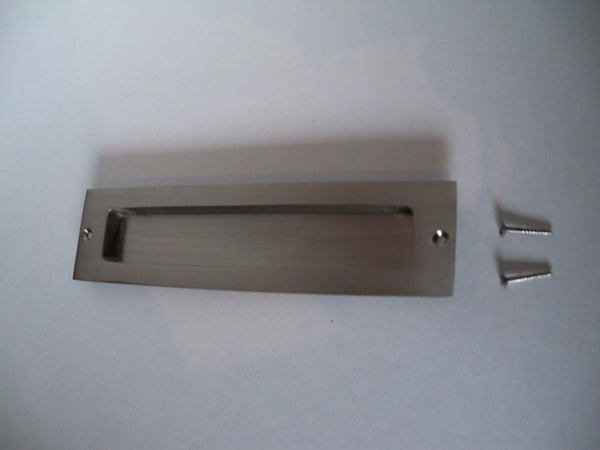 "Heavy Duty Flush Pull - 8"" Length  in Brushed Nickel"